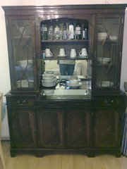 SIDEBOARD WITH DISPLAY CABINET AND BAR FOR SALE