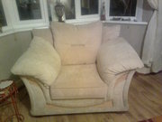 three seater sofa and matching chair